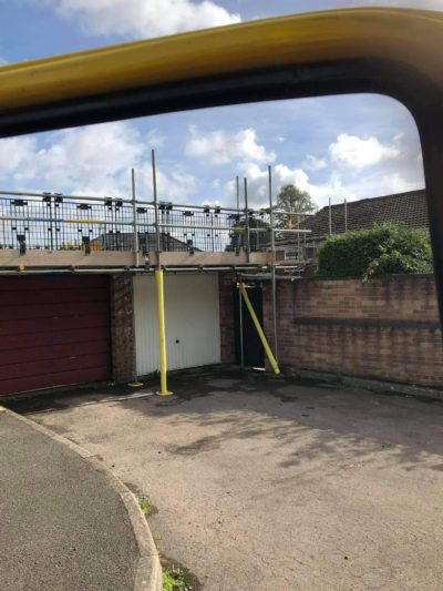 Gantry Scaffolding over Garages